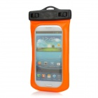 Waterproof Bag w/ Hook Style In-Ear Earphones / Strap for Samsung Galaxy S3 i9300 - Orange + Black
