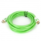 1080P 3D HDMI V1.4 Male to Male Connection Cable - Green + White (3M-Cable Length)