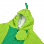 Cute Pea Cocoon Shaped Single-Layer Velvet Sleeping Bag for Baby - Green