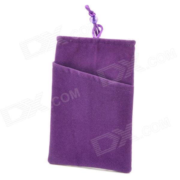 Universal Protective Flannel Bag Pouch for Cell Phone / GPS / MP3 / MP4 / E-Book - Purple universal waterproof bag case w strap for cell phone mp3 mp4 black blue