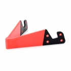 Universal Portable Foldable Plastic Desktop Mount Holder - Red + Black