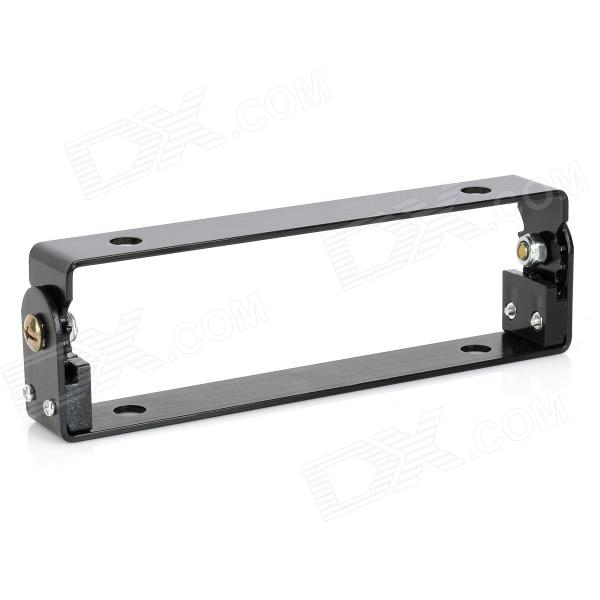Adjustable Aluminum Alloy License Plate Frame for Motorcycle - Black настенная плитка porcelanosa japan natural 31 6x90