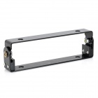 Adjustable Aluminum Alloy License Plate Frame for Motorcycle - Black