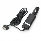 SAMDI Car Charger w/ 30-Pin Male Cable for Samsung Galaxy Tab Tablet PC - Black (DC 12~24)