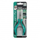 Pro'sKit PM-396H Stainless Steel Precision Flat-nose Pliers - Black + Green