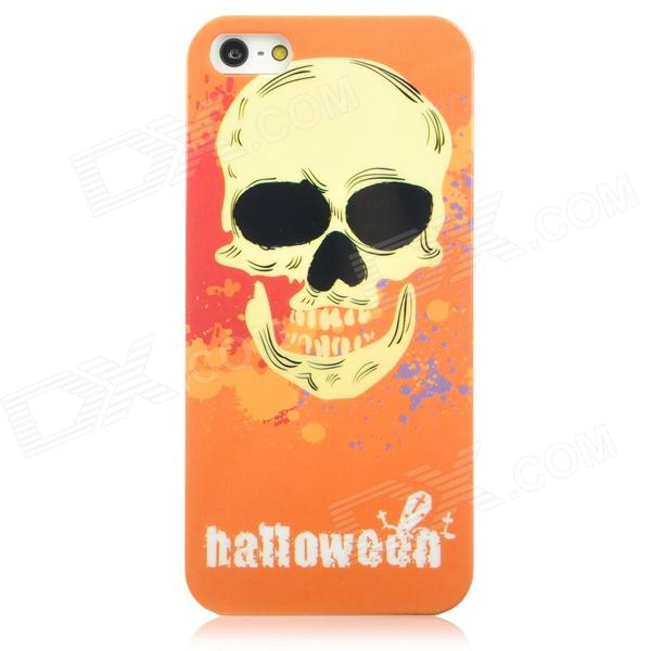 Airwalks Cool Skull Style Protective PC Back Case for Iphone 5 - Orange + Yellow cool skull head style protective soft silicone back case for iphone 4 4s pink