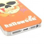 Airwalks Cool Skull Style Protective PC Back Case for Iphone 5 - Orange + Yellow