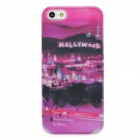 BASEUS SYAPIH5-HW Hollywood Night Pattern Protective Plastic Back Case w/ Screen Film for iPhone 5