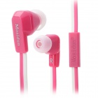 Mosidum MSD-500 3.5mm In-Ear Earphones w/ Microphone + Caps for Samsung / HTC / Iphone - Deep Pink