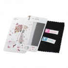 Colorfilm Butterfly Girl with Umbrella Pattern Protective Front + Back Stickers for iPhone 4 / 4S