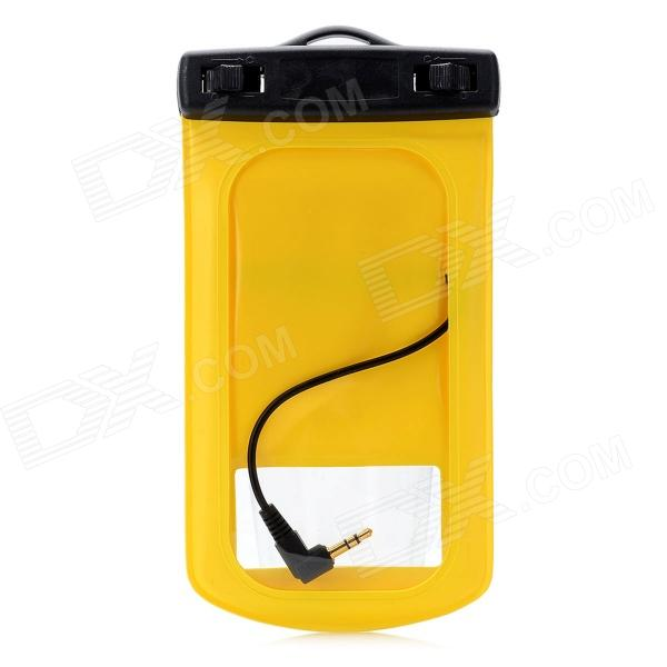 Waterproof Bag with Earphone & Strap for Samsung Galaxy S3 i9300 - Yellow + Black universal waterproof bag w 3 5mm earphone armband strap for iphone cell phone black blue