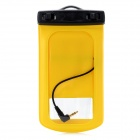 Waterproof Bag with Earphone & Strap for Samsung Galaxy S3 i9300 - Yellow + Black