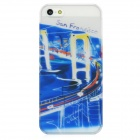 BASEUS SYAPIH5-SF San Francisco Pattern Protective Plastic Back Case w/ Screen Film for iPhone 5