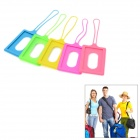 Silicone Travel Suitcase Luggage ID Tag - Multicolored (5 PCS)