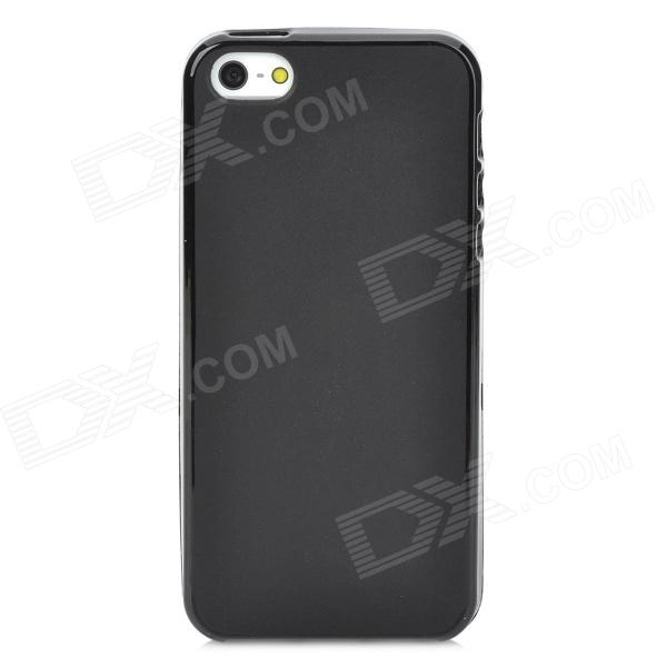 Protective Back Case w/ Waterproof Pouch for Iphone 5 - Black protective pc tpu back case for iphone 5 w anti dust cover black yellow