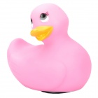 T-023 Cute Duck Style Electronic Vibration Showering Bathing Massager - Pink (2 x AA)