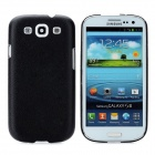 Lychee Pattern Protective Plastic Back Case for Samsung Galaxy S3 i9300 - Black