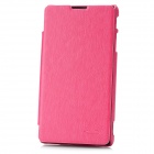 KALAIDENG Protective PU + Fiber Side-open Case w/ Holder for Sony LT291 - Deep Pink