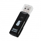 Kawau C296 USB 2.0 Multi-in-1 SD / MMC / TF / T-Flash Card Reader - Black