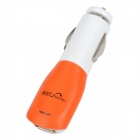 Driveman CO2 USB Car Power Charger for Cell Phone / MP3 / MP4 / GPS / PSP - Orange + White