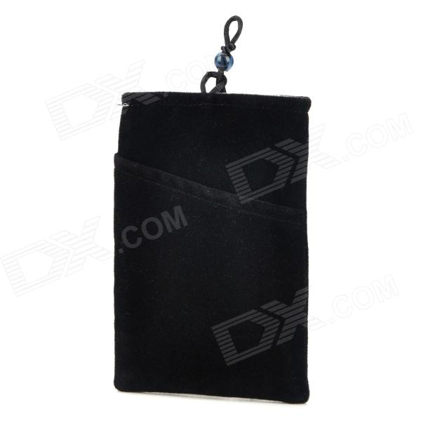 Universal Protective Flannel Bag Pouch for Cell Phone / GPS / MP3 / MP4 / E-Book - Black техника