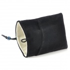 Universal Protective Flannel Bag Pouch for Cell Phone / GPS / MP3 / MP4 / E-Book - Black