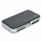 High Speed USB 3.0 SD / MS / M2 / CF / XD / Micro SD/TF Card Reader - Black + Silver