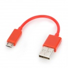 USB 2.0 Male to Micro USB 5-Pin Male Data Sync / Charging Cable - Red (10cm)