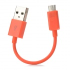 USB Male to Micro USB Male Charging Data Cable - Orange (10cm)