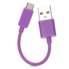 Micro USB Data / Charging Cable for Nokia / Samsung / HTC / LG - Purple (10CM)