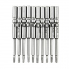 ABC-T8 Electric Screwdriver Torx Bits Set - Silver-grey (5mm-Shank / T8)