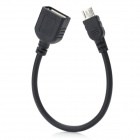 Micro USB Male to USB Female Adapter Cable for Samsung / HTC - Black (15cm)