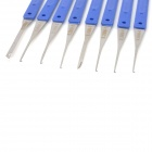 12-in-1 Stainless Steel Broken Key Extractor Set - Blue + Grey + Silver