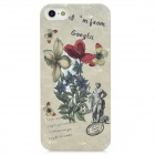 Flower Pattern Plastic Back Case + Water Resistant Bag for Iphone 5 - Multicolored