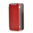 KALAIDENG Protective PU Leather Case for HTC T528w (One SU) - Red Brown