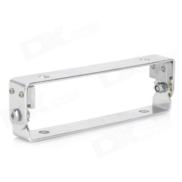 DIY Adjustable Aluminum Alloy Motorcycle License Bracket - Silvery White