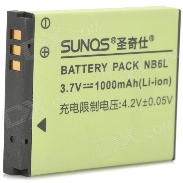 SANQS NB-6L 3.7V 1000mAh Li-ion Battery for Canon IXUS 85IS + More - Green