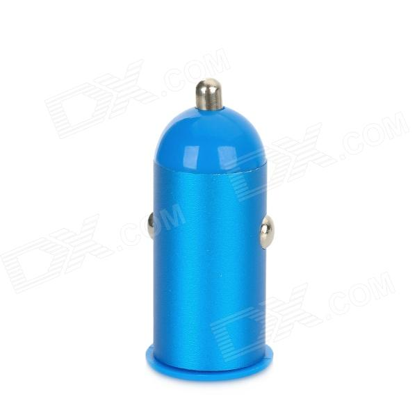 HJ-21 USB Car Cigarette Powered Charger for Iphone 4 / 4S / 5 - Blue (12~24V)