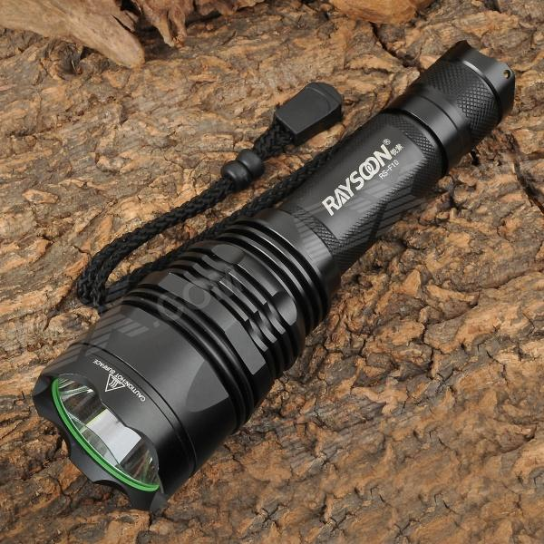 RAYSOON RS-F10 740lm 5-Mode White Camping Flashlight w/ Cree XM-L T6 - Black (1/2/3 x 18650) convoy s5 925lm 2 group 3 5 mode white led flashlight w cree xm l2 t5 5b black 1 x 18650