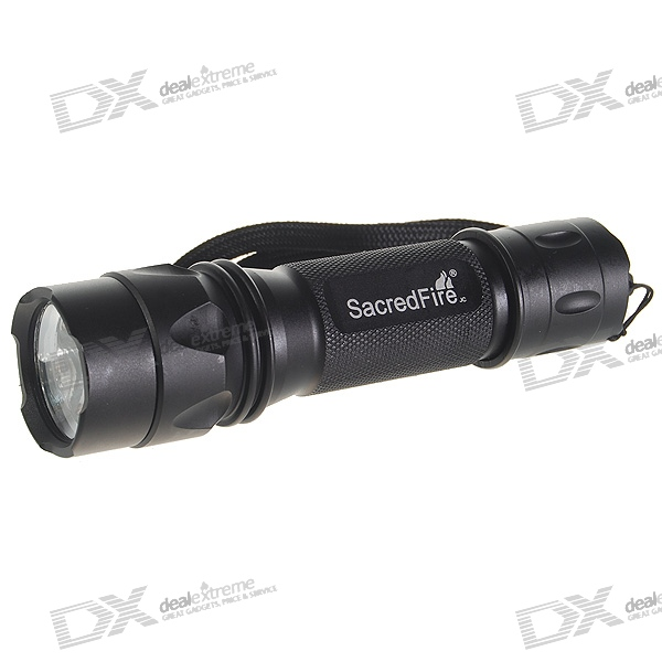 SacredFire NF-028 Cree Q2-WC LED Flashlight with Strap (1*18650/2*CR123A/3*AAA)