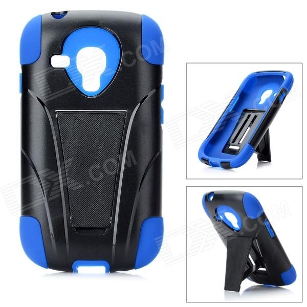 Detachable Protective Back Case for Samsung Galaxy S3 Mini i8190 - Black + Blue