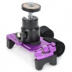 Bicycle Bike Aluminum Alloy Mount Holder for Digital Camera / Mini DV - Purple