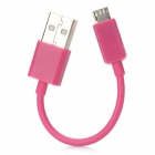USB to Micro USB Data / Charging Cable for Nokia / Samsung / LG / HTC + More - Deep Pink (10CM)