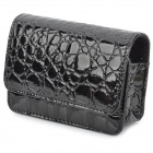 ismartdigi crocodile Skin Style Protective PU Leather Case Bag for Digital Camera - Black