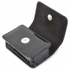 ismartdigi Protective Glossy PU Leather Case w/ Strap for Digital Camera - Black