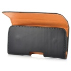 Protective PU Flip-Open Belt Case w/ Magnet for Samsung i9300 - Black