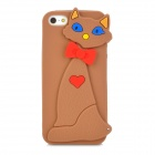 Cute Cat Style Protective Silicone Back Case for Iphone 5 - Brown