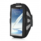 Sports Gym Arm Band Mesh Case for Samsung Galaxy Note II N7100 - Black + Grey