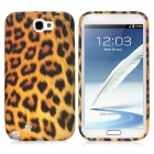 Leopard Pattern Protective Silicone Soft Back Case for Samsung Galaxy Note 2 N7100 - Black + Yellow