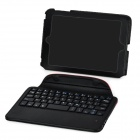 Rechargeable Bluetooth v3.0 59-Key Keyboard w/ Case for Ipad MINI - Red + Black